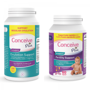conceive plus ovulation support and womens fertility support bundle